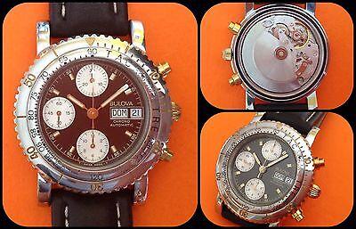 BULOVA-Automatic Chronograph-ETA/Valjoux 7750-vintage Anni'80-all stainless d'occasion  Expédié en Belgium