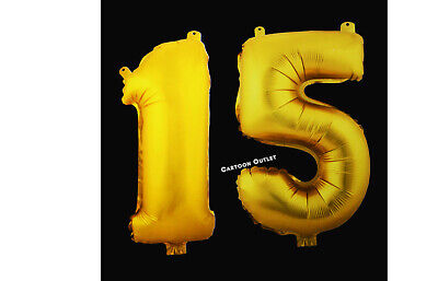 MIS QUINCE FOIL # 15 BALLOON PARTY DECORATIONS GOLD QUINCEANERA 15TH  16