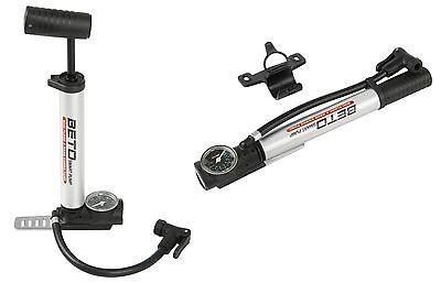 Beto Fahrradpumpe Minipumpe Standpumpe mit Manometer Ministandpumpe für FV AV DV
