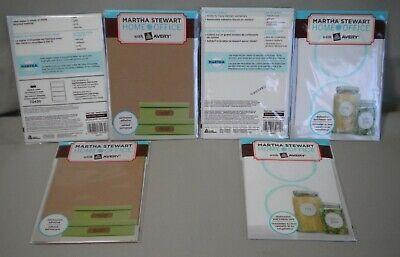 6 - Nip Martha Stewart 3-home Office Kitchen 3-brown Kraft Labels - Ships Free