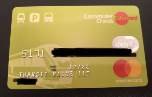 Commuter Check Card 115 Value - $71.00