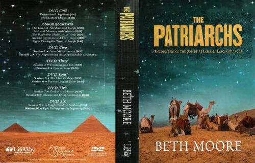 BETH MOORE THE PATRIARCHS ENCOUNTERING THE GOD OF ABRAHAM  6 DVDS SET