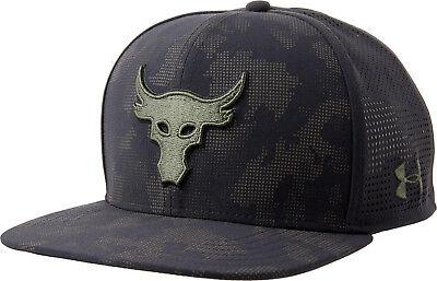 659b2eaa44ccb5 Under Armour Mens UA x Project Rock Mesh Back SuperVent Snapback Cap Flat  Hat