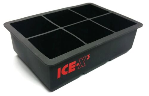 CUBED ICE Maker Large Cube Square Tray Molds Whiskey Ball Co