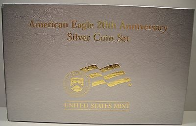 2006 AMERICAN EAGLE 20th ANNIVERSARY SILVER COIN SET BOX/COA ONLY NO COINS