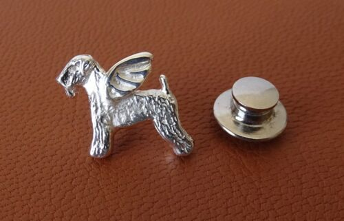 Sterling Silver Wheaten Terrier Angel Lapel Pin