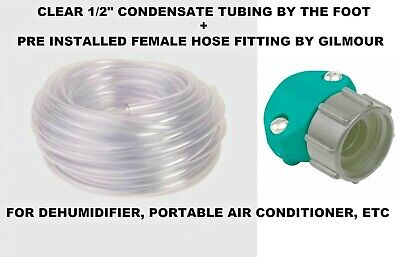 12 Diameter Clear Condensate Tube Tubing By The Foot Hose Coupler Dehumidifier