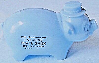 Farmers State Bank Tabor South Dakota Piggy Bank Vintage Advertising Coin Saver