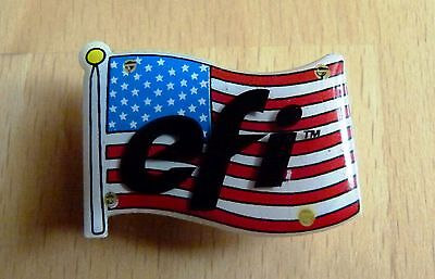 Magnetpin US-Flagge: efi (Electronics for Imaging)  4 bunte LED neue Batterien