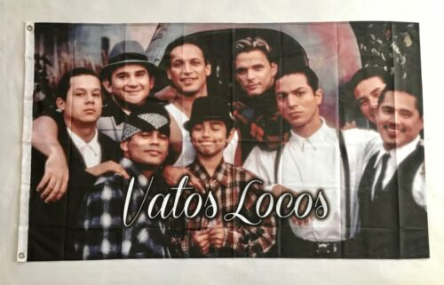 Vatos Locos 3ftx5ft flag banner blood in blood out mexican Los Angeles limited