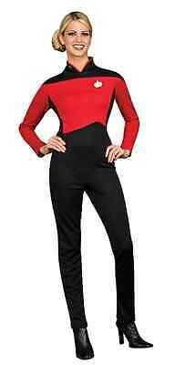 Command Uniform Star Trek Next Generation Red Female Halloween Adult Costume](Star Trek Female Costumes)