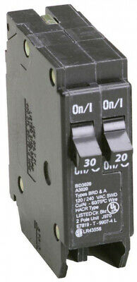 Circuit Breaker Single Pole Tandem CTL 30/20 Amp Duplex Type BD Limiting Load Amp Single Pole Circuit Breaker
