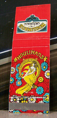 Vintage Matchbook K4 Houlihan's Old Place Restaurant Lovely Flower Girl Colorful - Vintage Flower Girl Shoes
