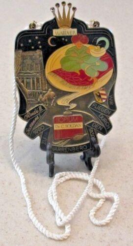 Nuremburger Fastnacht Carnival Enameled Medal Plaque German Mardi Gras Wearable
