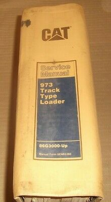 Cat Caterpillar 973 Track Type Loader Service Shop Repair Manual Sn 86g3000-up