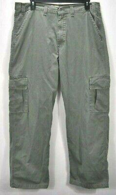 Levis Khakis Silver Tab Pants Men's 40x32 Pale Green Carpenter Flat Front Pale Green Pants