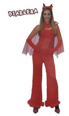 Diablesa Halloween (DISFRAZ  DEMONIO  DIABLESA TALLA: UNICA (de La 40 a 44) CARNAVAL,)