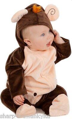 Baby Mädchen Jungen Affe Zoo Tier Weihnachten Halloween Kostüm Kleid (Baby Mädchen Affe Kostüm)