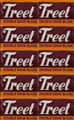 "100 Treet Carbon ""Black Beauty"" double edge razor blades"