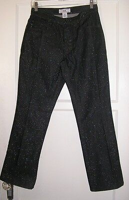 armani exchange ax charcoal black rainbow glitter cotton jeans size 29 medium