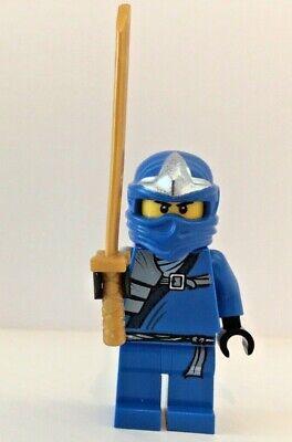 Genuine LEGO Ninjago Ninja Blue Jay ZX with Gold Sword Minifigure njo034 9442