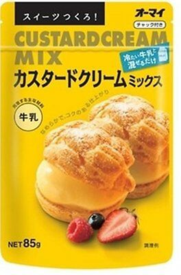 F/S [Ohmy]  Instant Custard Cream Mix 85g x 3 pcs From Japan