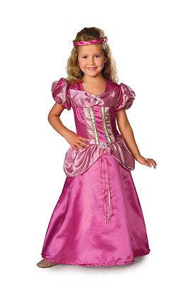 Kids Fairy Dresses (Girls Rapunzel Pink Princess Costume Fairy Tale Fancy Dress S M L Child Kids)