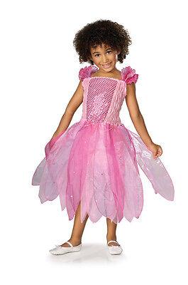 Pink Princess Fairy Pixie Ballerina Sequin Cute Dress Up Halloween Child Costume