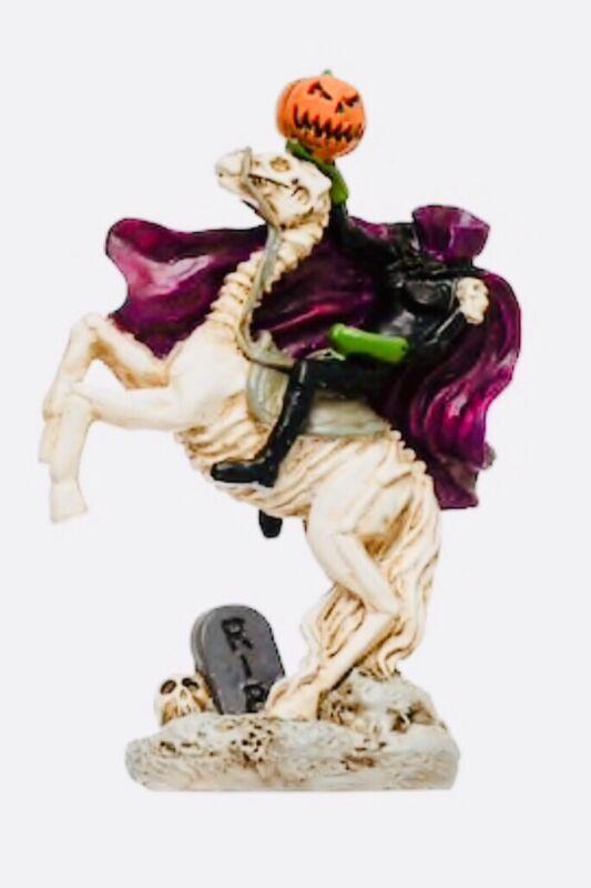 Headless Horseman-Sleepy Hollow Mini Statue Halloween Decor (🎃RARELY SEEN🎃)