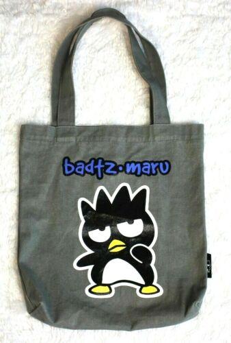 Vtg Sanrio Badtz Maru grey penguin tote bag