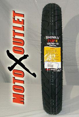 100/90-19 Motorcycle Front Tires Shinko 712 Street 100 90 19 Tire 87-4141