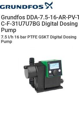 Grundfos Dda 7.5-16-fc-pvtc-f-31u7u7bg Dosing Pump 7.5 Lh 16 Bar Pvdf Ptfe