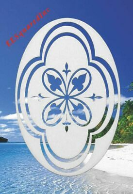 Decorative Window Decal OVAL 15x23 Static Cling Decor for Sliding Glass Doors