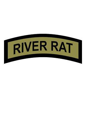 Home Decoration - RIVER RAT Tab Vinyl Window Decal/Sticker