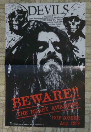 Rob Zombie Promo Poster - The Beast Awakens 1998