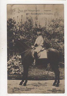Prinz Eitel Friedrich Im Achten Lebensjahre RP Postcard Germany Royalty 038b