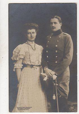 Prinz & Prinzessin Eitel Friedrich 1906 RP Postcard Germany Royalty 038b
