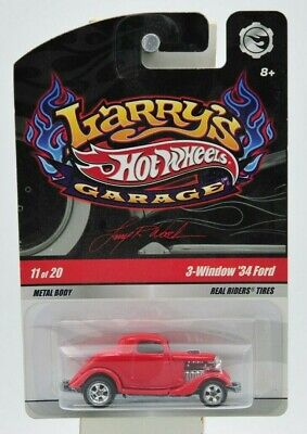 "Hot Wheels 2008 Larry's Garage 3-Window '34 Ford 11 of 20 ""NIP"""