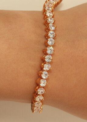 Rubyshire Tennis Bracelet 18K Yellow Gold Finish Diamond 0.50CT for Women