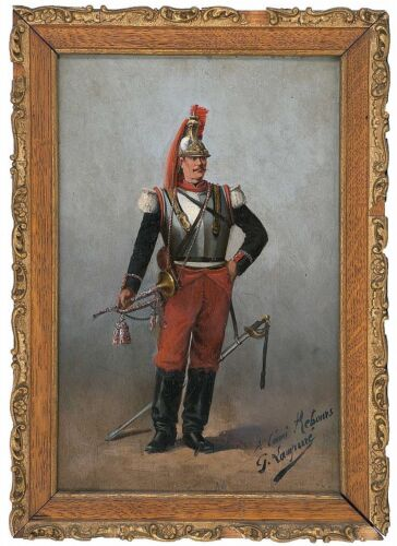 Continental School, Late 19th Century, A Soldier With Trumpet And Sword., Oil...