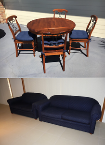 2 seater and 3 seater plus sofa bed. Table and chairs Moorebank Liverpool Area Preview