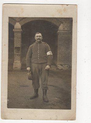 France Military Hospital Orderly Vintage RP Postcard 386a