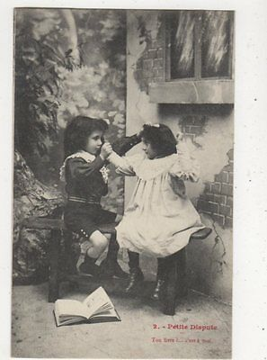 Petite Dispute [2] Children France 1904 Postcard 880a