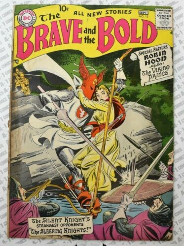 Brave and the Bold #13 (1957) VG Very Good (4.0) ~ Silent Knight Ft. ~ DC Comics