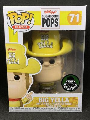 Funko Pop! Big Yella #71 Sugar Corn Pops Shop Exclusive Popcultcha Sticker