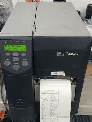 Zebra Z4mplus Parallel Serial Thermal Barcode Label Printer Used