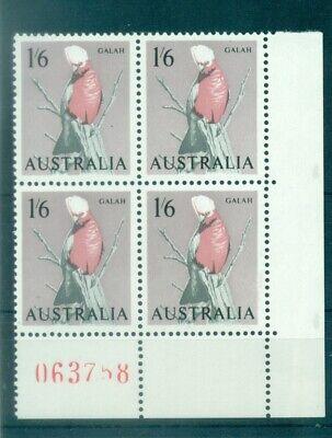 UCCELLI - BIRDS AUSTRALIA 1964 Common Stamps Mi. 341 Block of 4