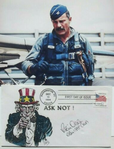 Robin Olds U.S Triple Ace 17 Aerial Victories [2] Wars Autograph Cover