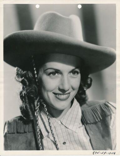 JINX FALKENBURG Cowgirl Original Vintage 1940s Columbia Key Book Portrait Photo