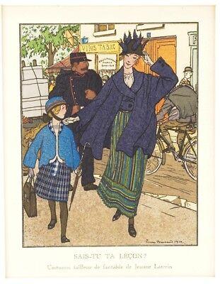 Pierre Brissaud Gazette Du Bon Ton Fashion Illustration For Jeanne Lanvin 1914